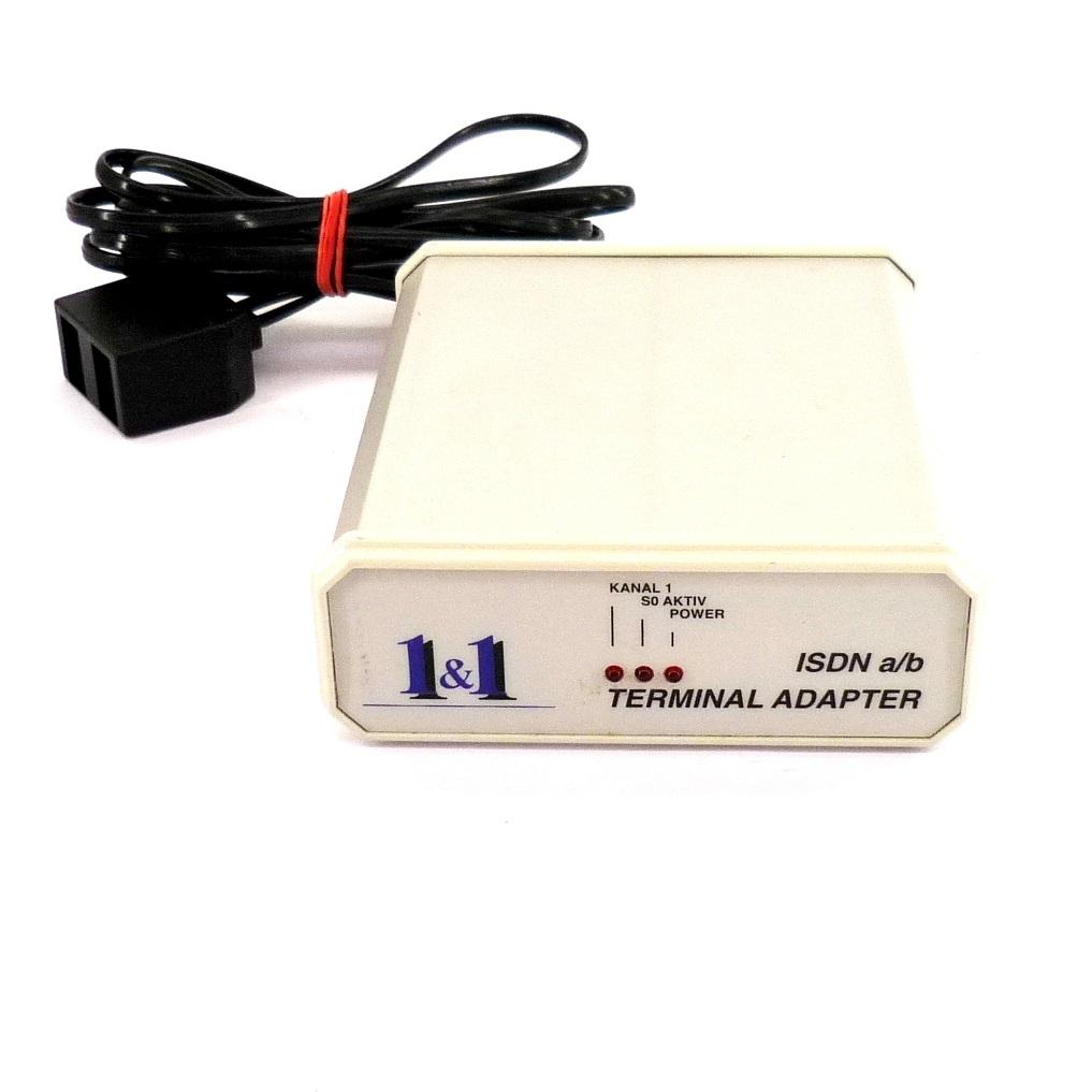 isdn a b adapter 1und1 terminal adapter analog wandler 1 1 mit rechnung ebay. Black Bedroom Furniture Sets. Home Design Ideas
